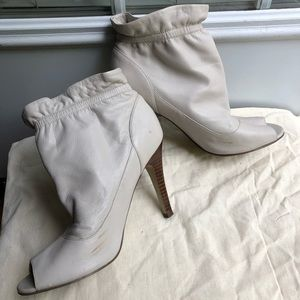 Marc Fisher Shoes - Marc Fisher cream peep toe booties